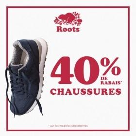 40% de rabais sur les chaussures chez Roots