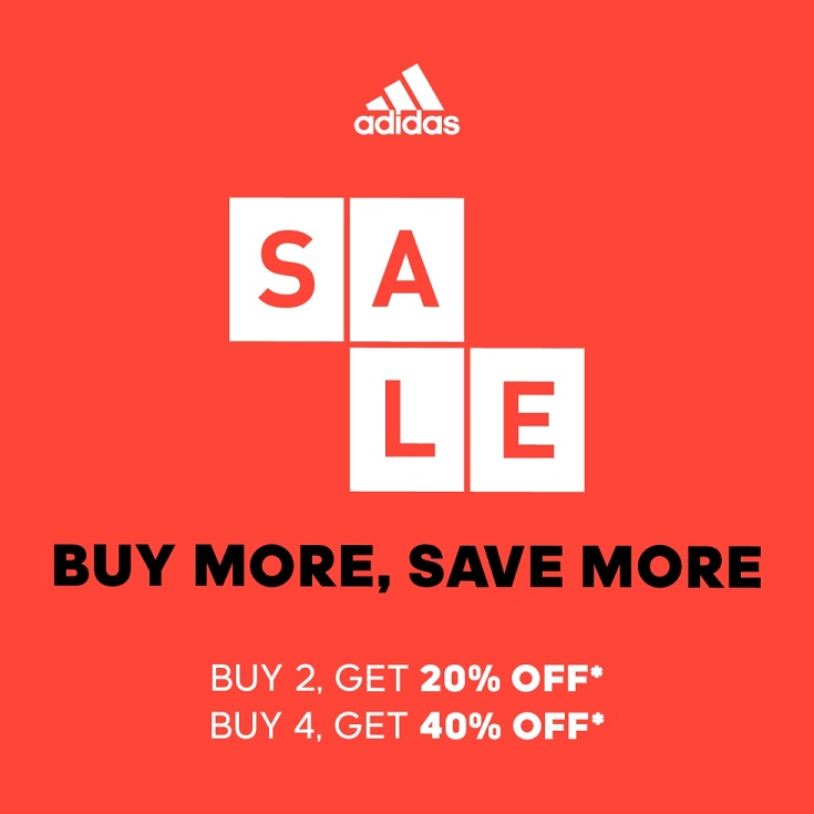 Buy more, save more with Adidas