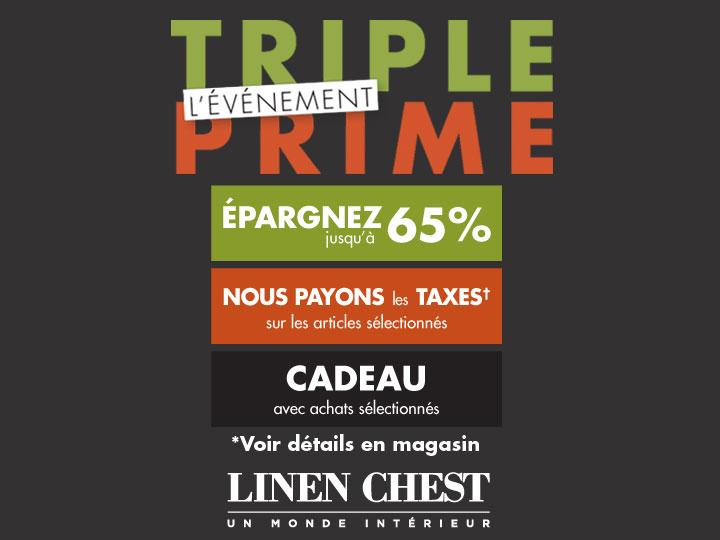 L'�v�nement Triple Prime chez Linen Chest