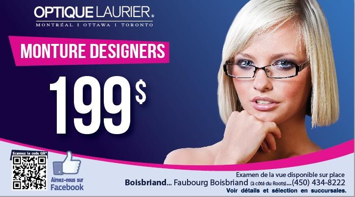 Montures designers � 199$